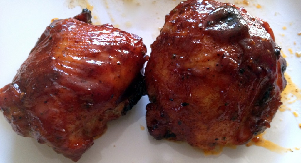 Grilled BBQ chicken - recipe here: http://bit.ly/ZIhkXH