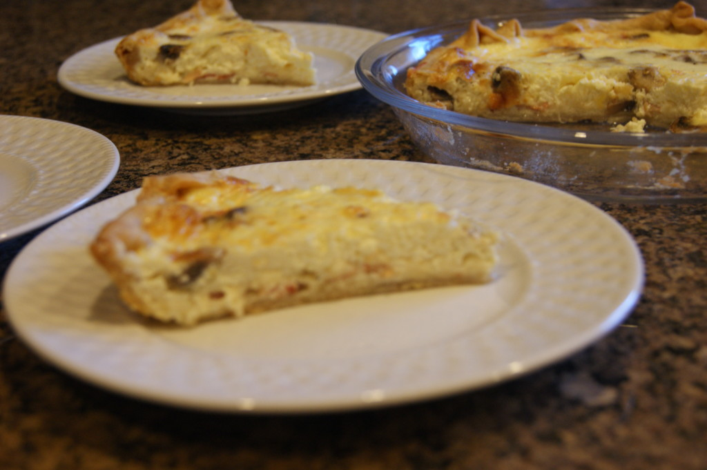 Bacon, Swiss and Mushroom Weeknight Quiche