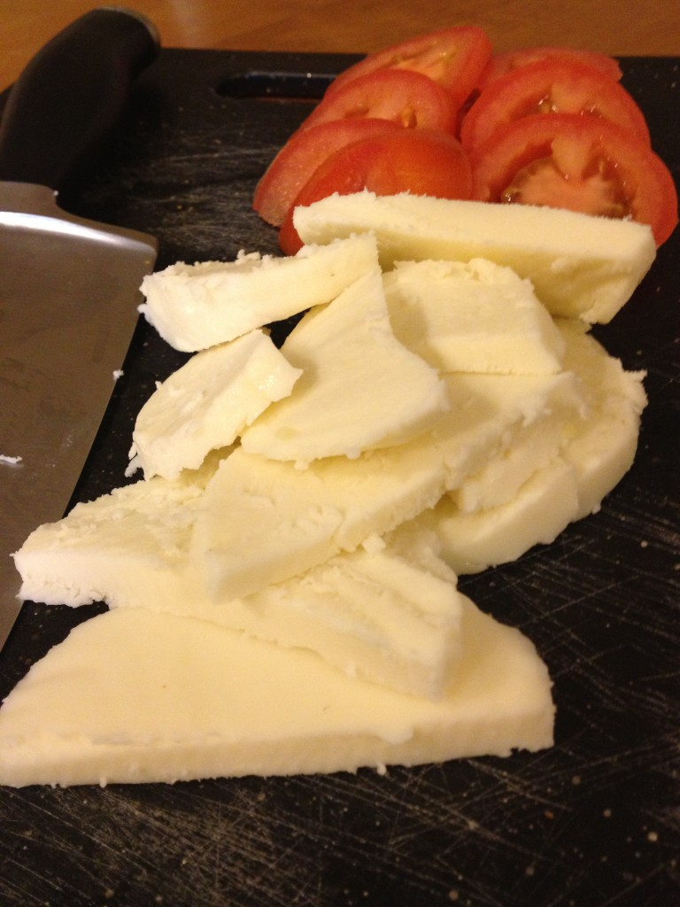 Super fresh mozzarella and vine ripe tomatoes - perfect combination.