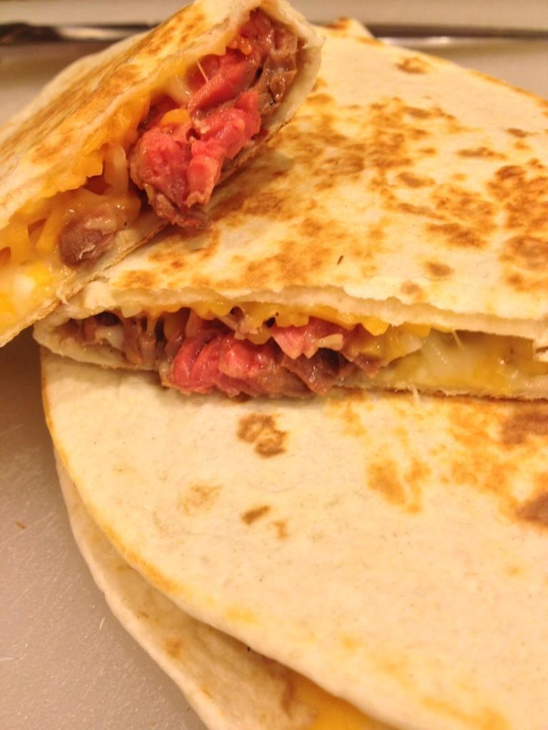 I opted to tuck mine into ooey, gooey, cheesy quesadillas.