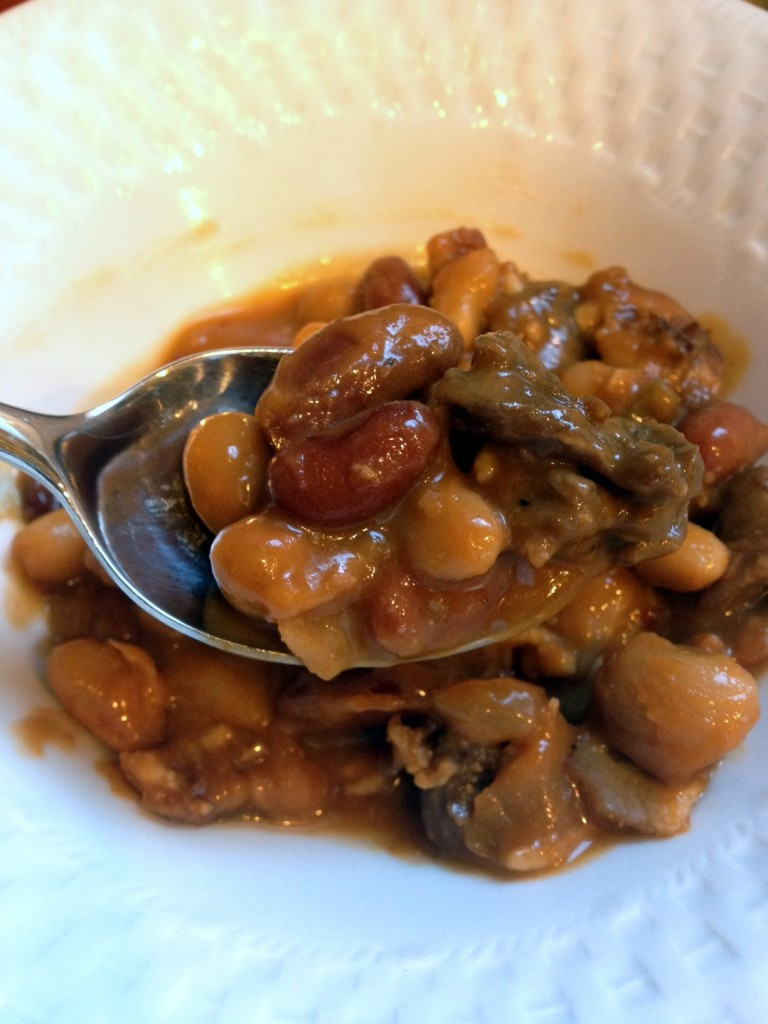 Bacon and Steak Baked Beans