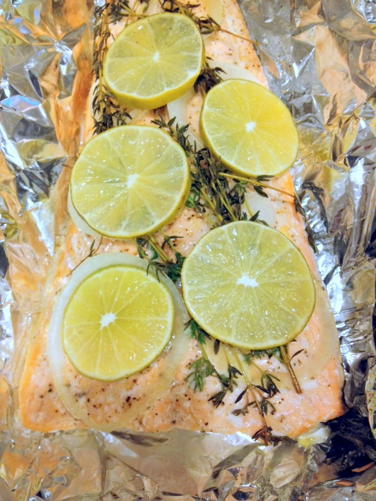 Thyme and Lime Roasted Salmon
