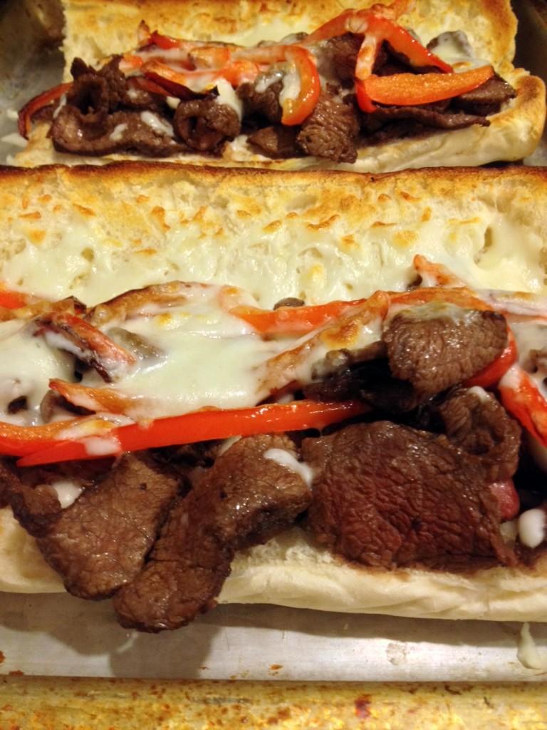 Steak Cheesy Sandwiches