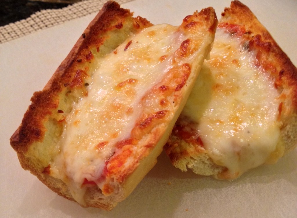 Cheesy Garlic French Bread Pizza
