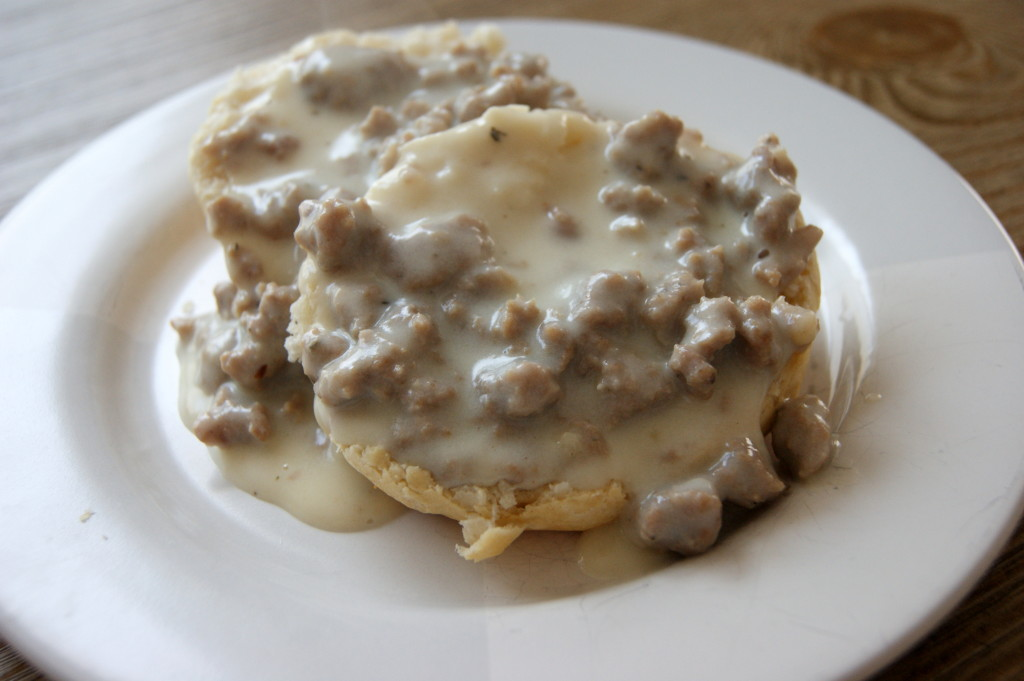 Biscuits and Homemade Turkey Sausage Gravy