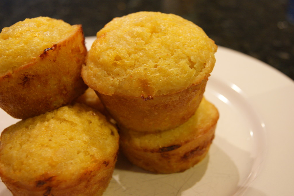 The sides of the muffins develop a crunchy exterior because of the cheese - my favorite part about these muffins!