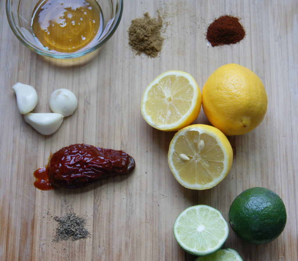 All the marinade ingredients ready to get to work on the pork.
