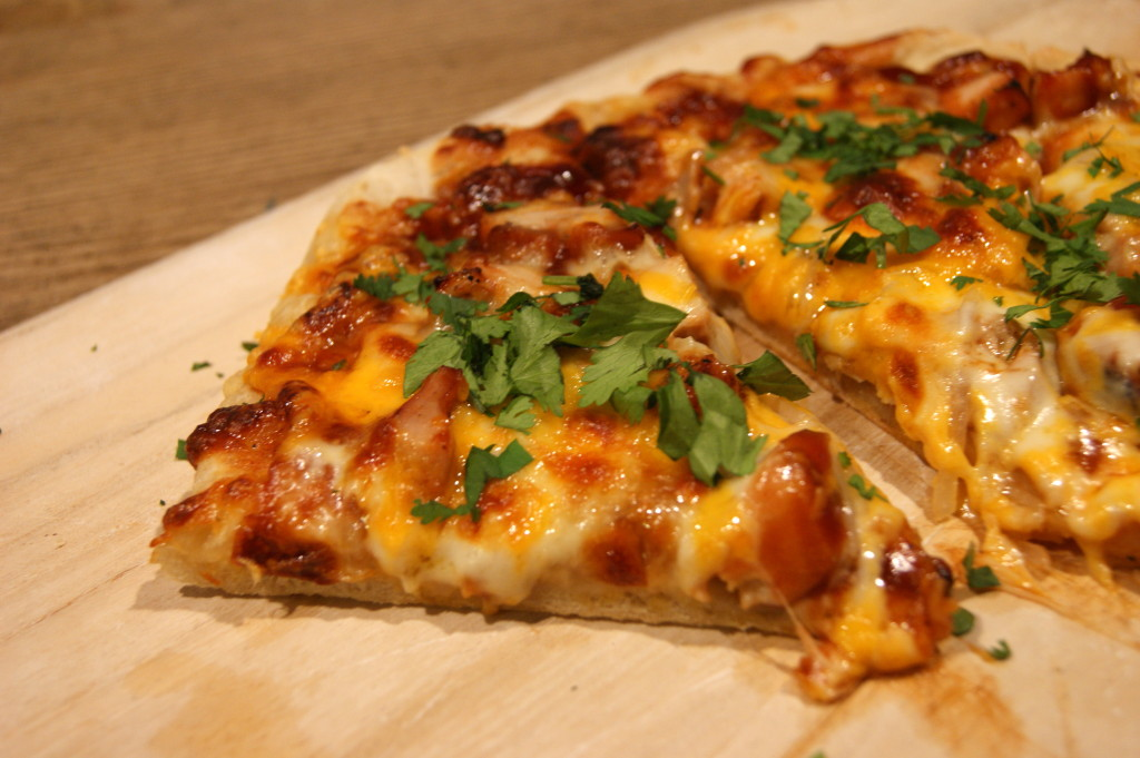Homemade BBQ Chicken Pizza with Cilantro