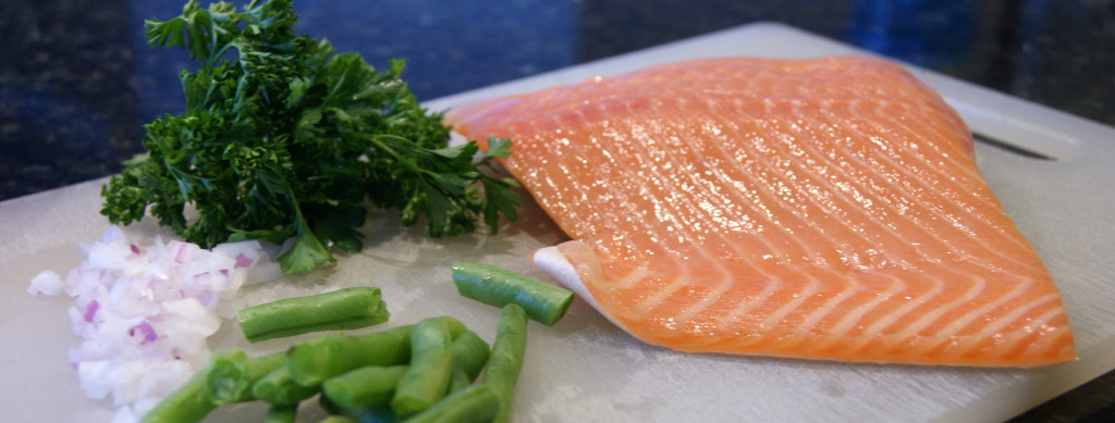 Fresh parsley, fresh green beans, fresh salmon...nothing but the freshest and best ingredients!