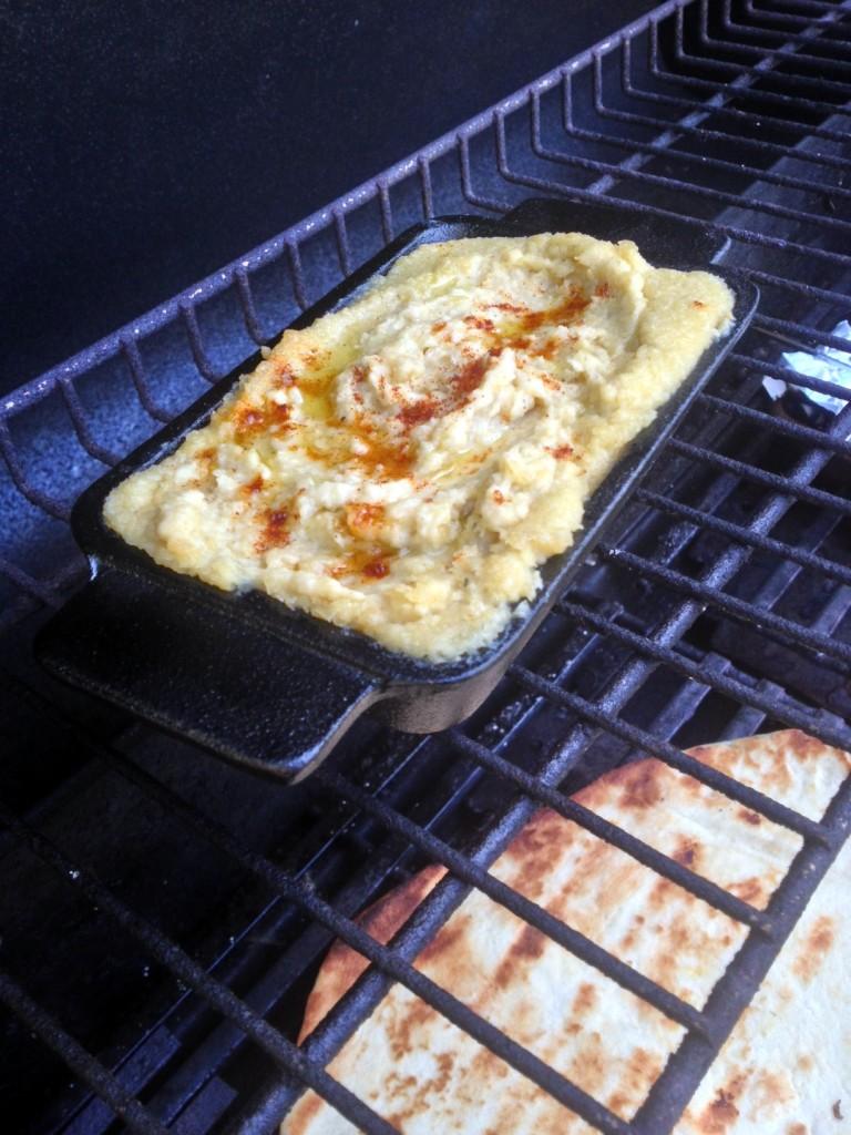 Garlic Butter Grilled Hummus