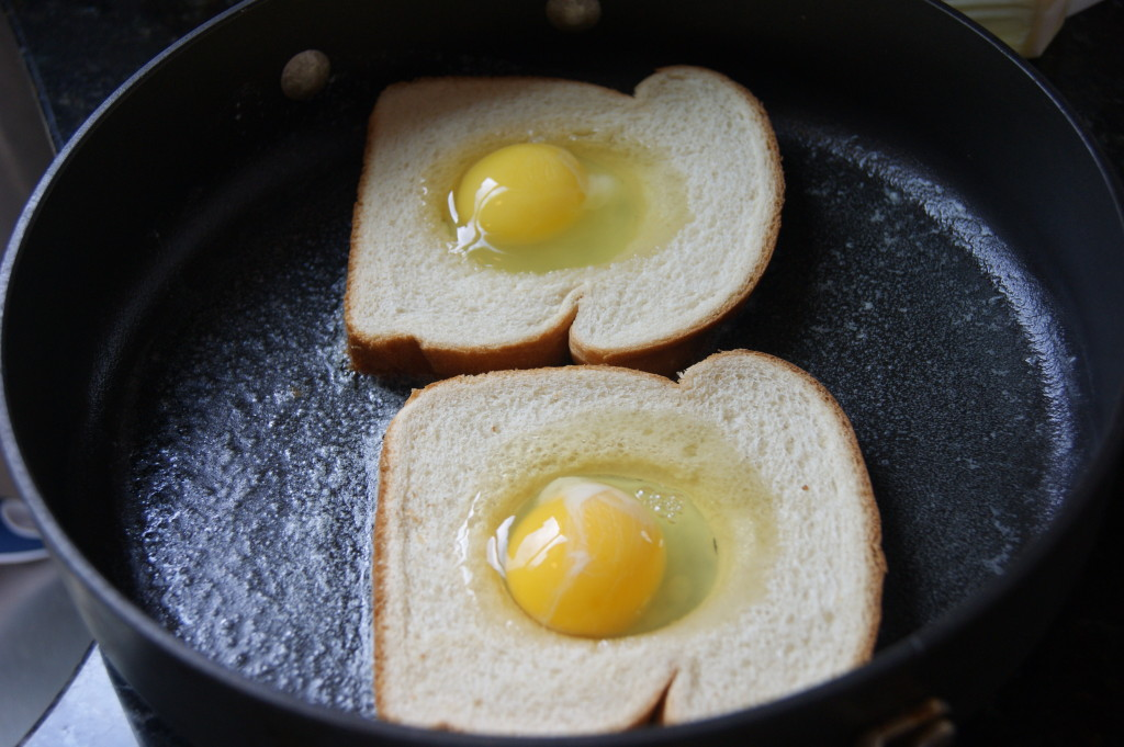 Gently crack in the eggs...