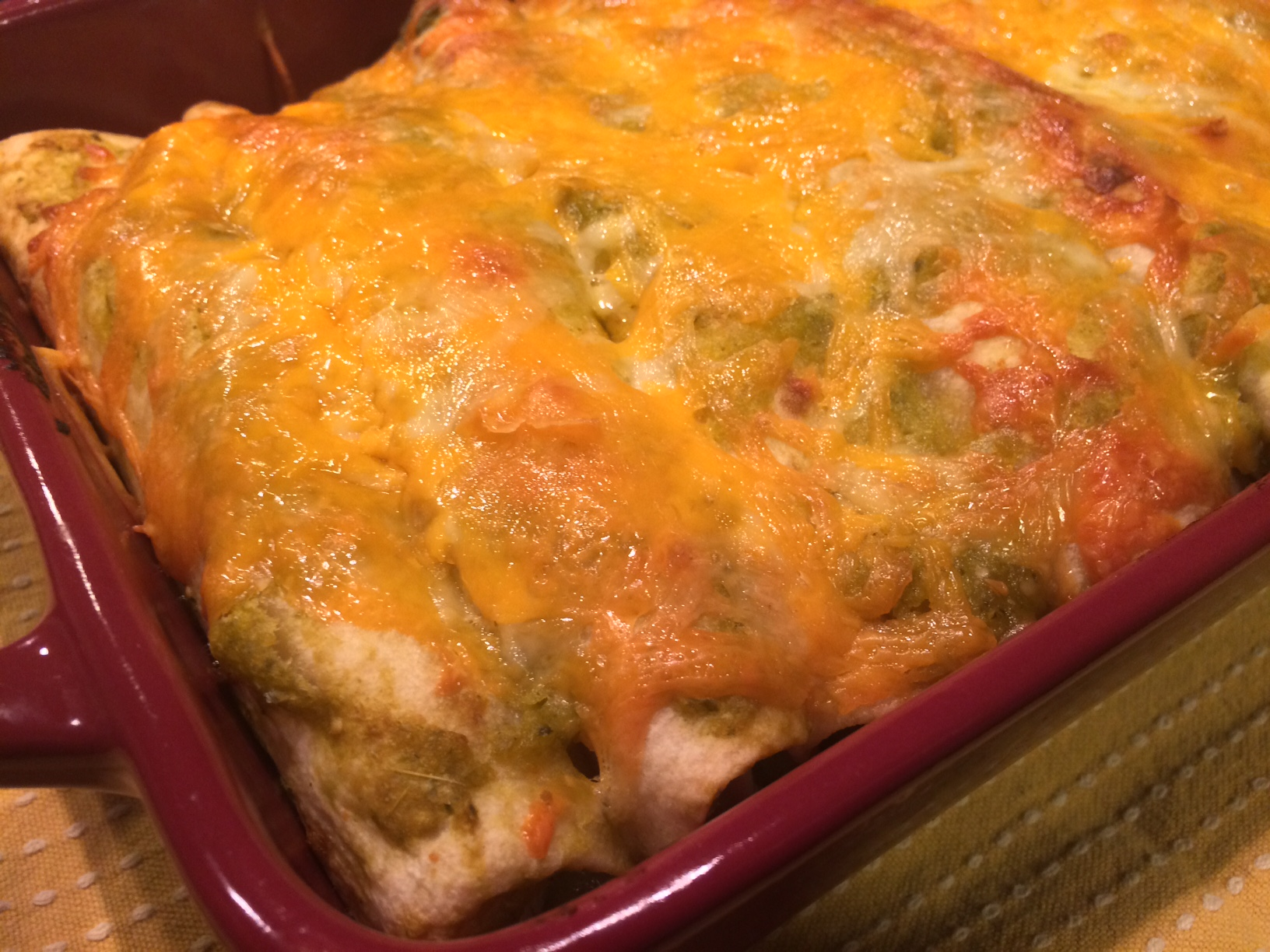 Green Chile Chicken Enchiladas | Fit Chef Chicago