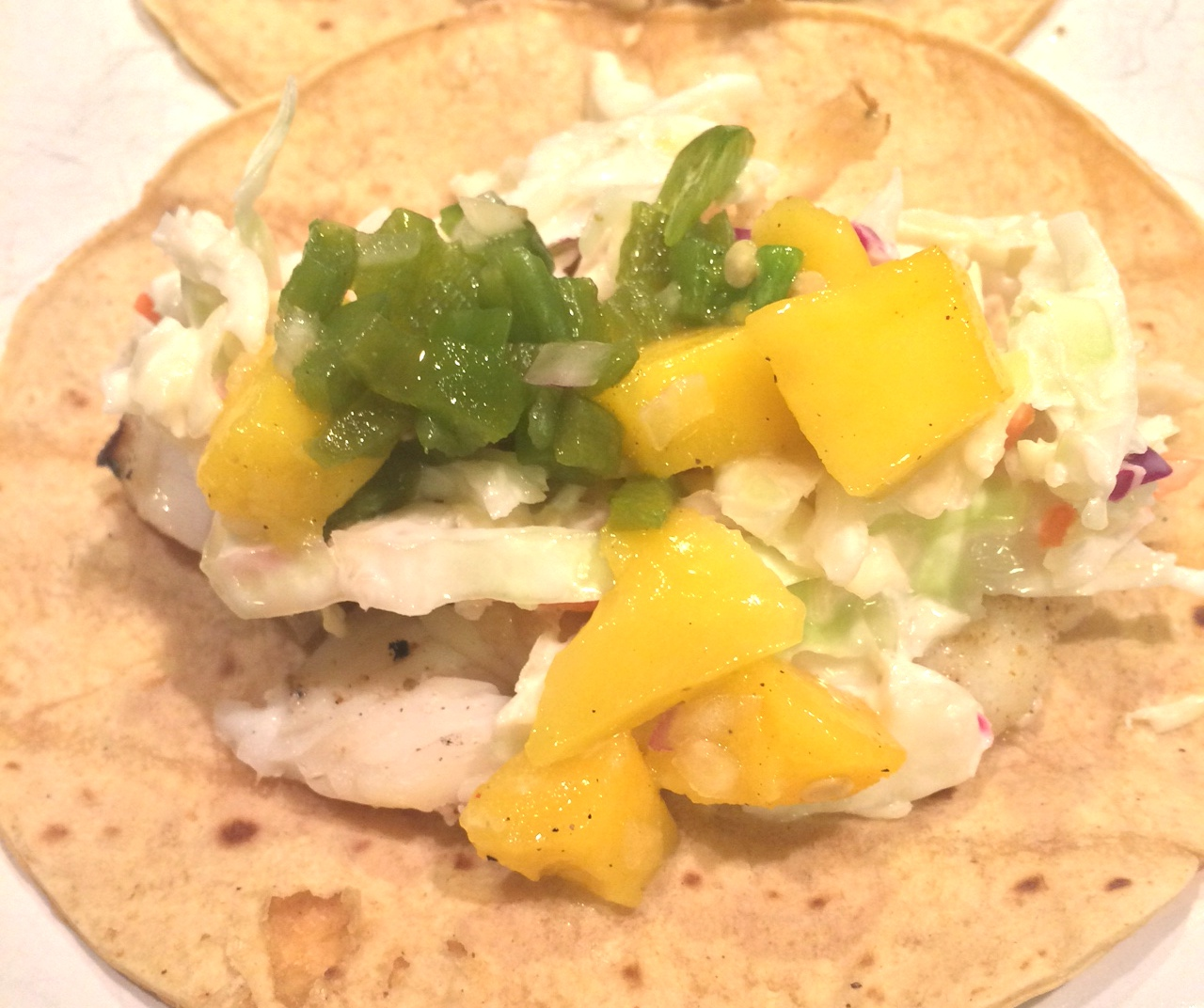 Grilled tilapia tacos with mango salsa fit chef chicago for Mango salsa recipe for fish