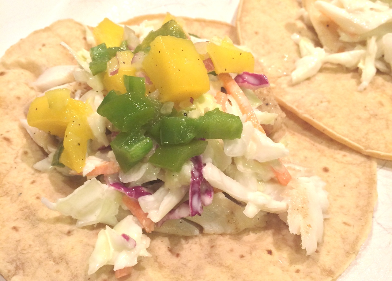 grilled tilapia tacos with mango jalapeno salsa grilled tilapia tacos ...