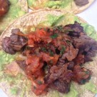 Grilled Steak Tacos with Roasted Tomato Salsa